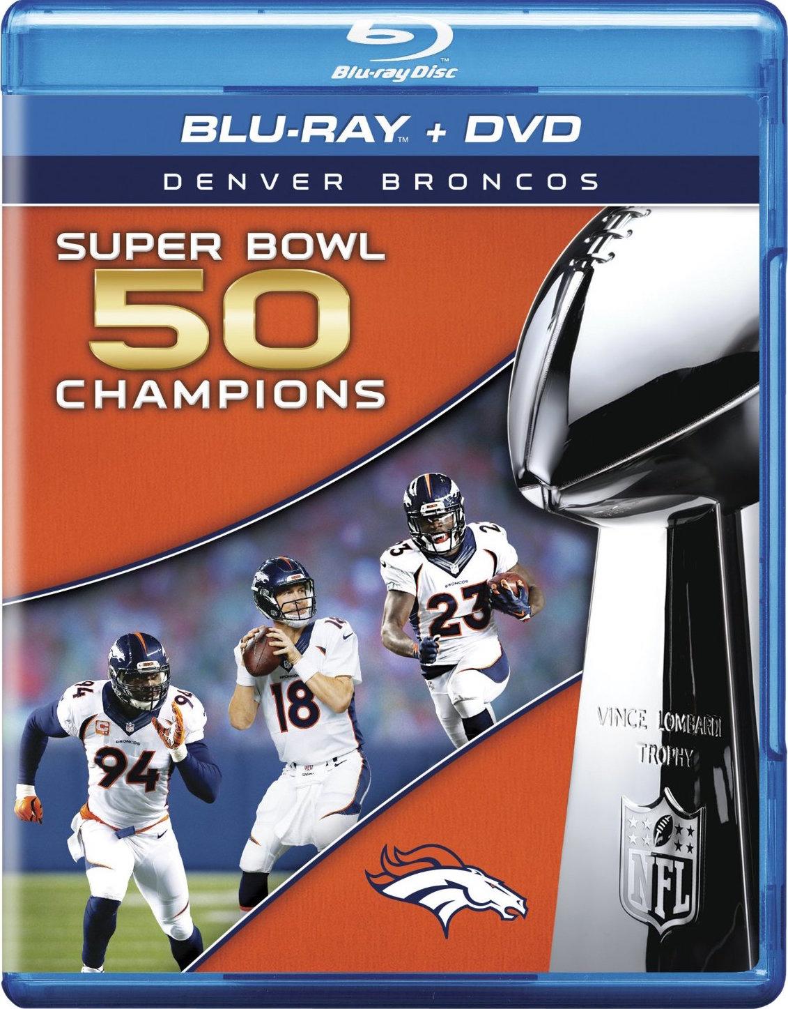 NFL Super Bowl 50 Champions: Denver Broncos (2016) Blu-ray