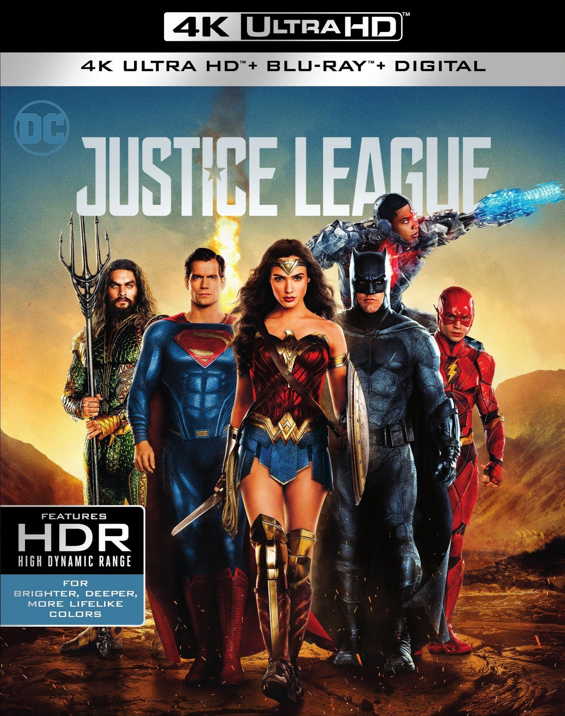 Justice League 4K (2017) UHD Ultra HD Blu-ray