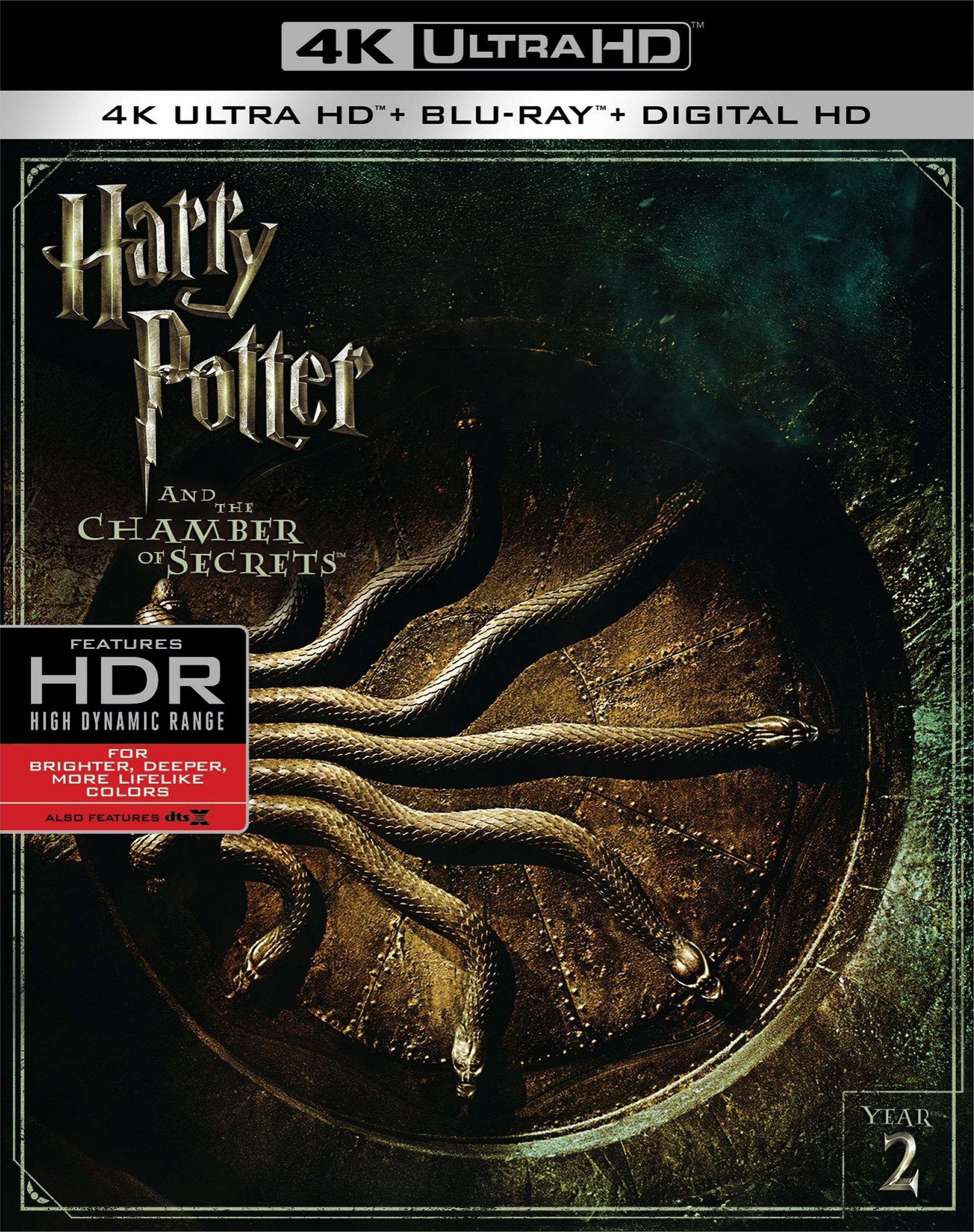 Harry Potter and the Chamber of Secrets 4K (2002) UHD Ultra HD Blu-ray