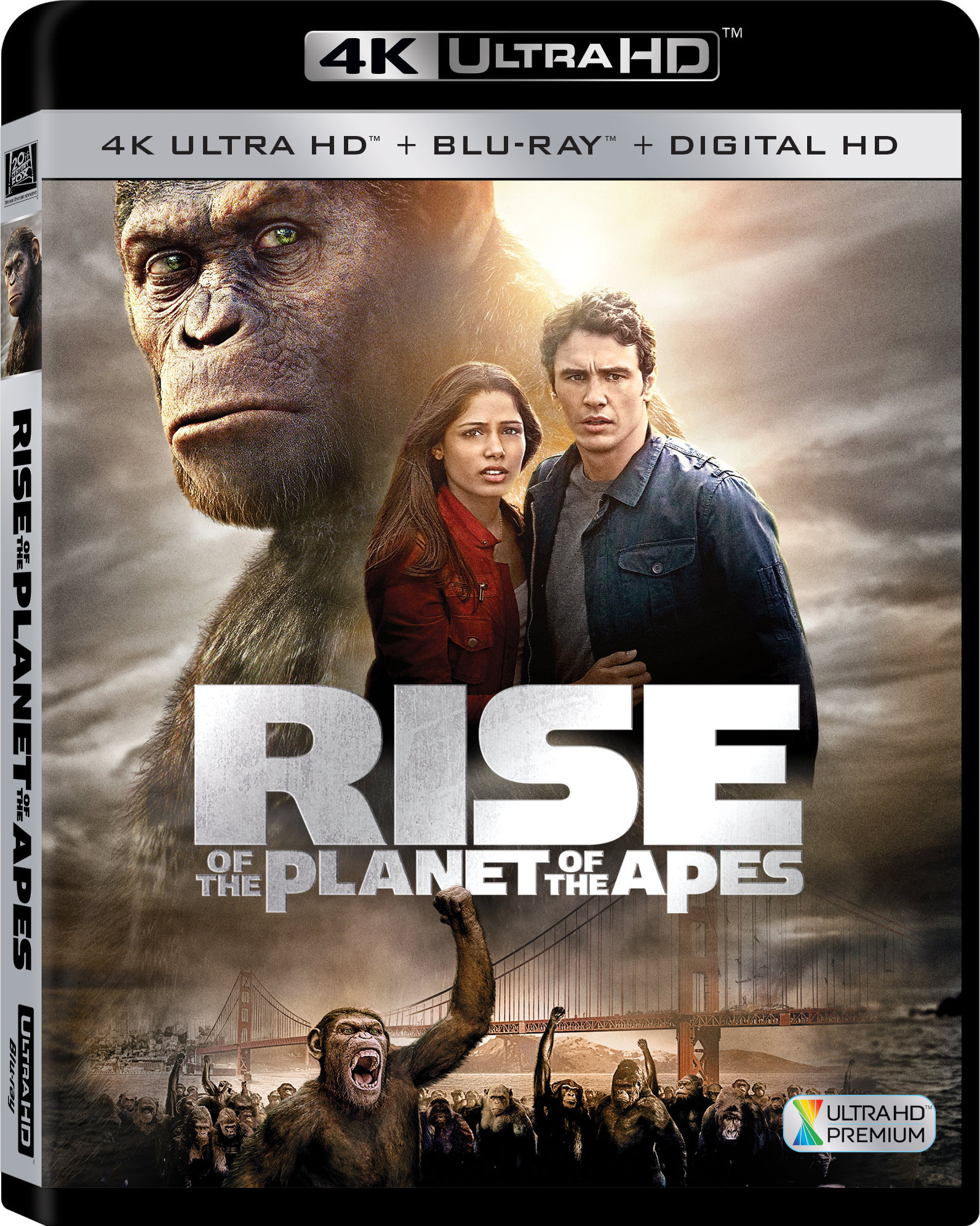 Rise of the Planet of the Apes 4K (2011) UHD Ultra HD Blu-ray