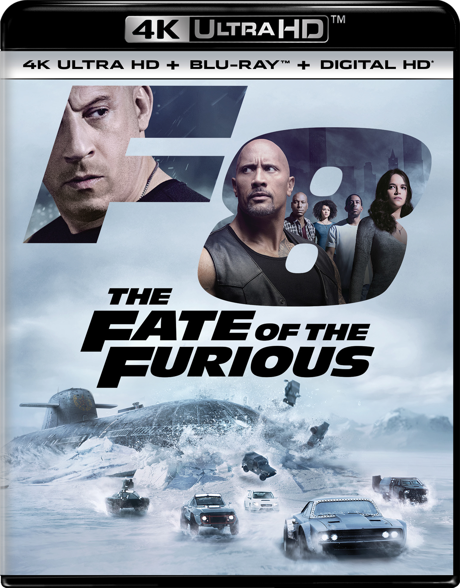 The Fate of the Furious 4K (2017) UHD Ultra HD Blu-ray