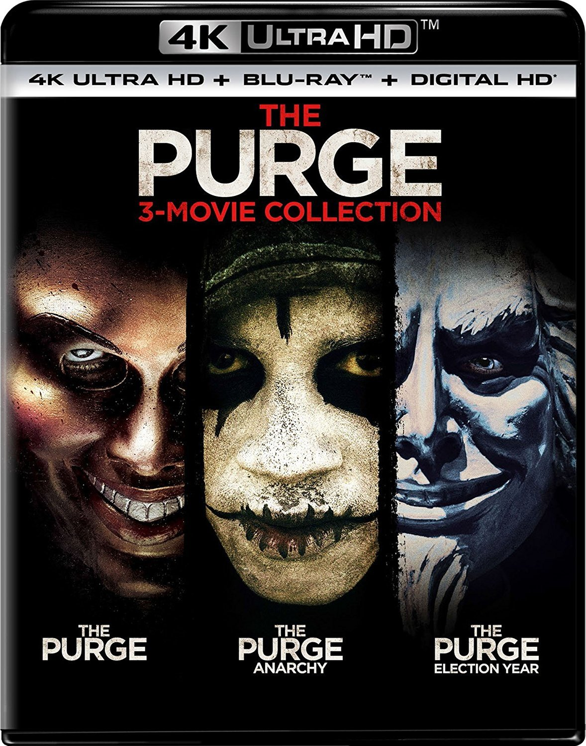 The Purge / The Purge: Anarchy / The Purge: Election Year 4K Ultra HD Blu-ray