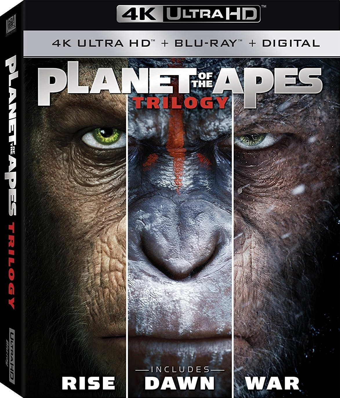 Planet of the Apes Trilogy 4K (2011-2017) Ultra HD Blu-ray