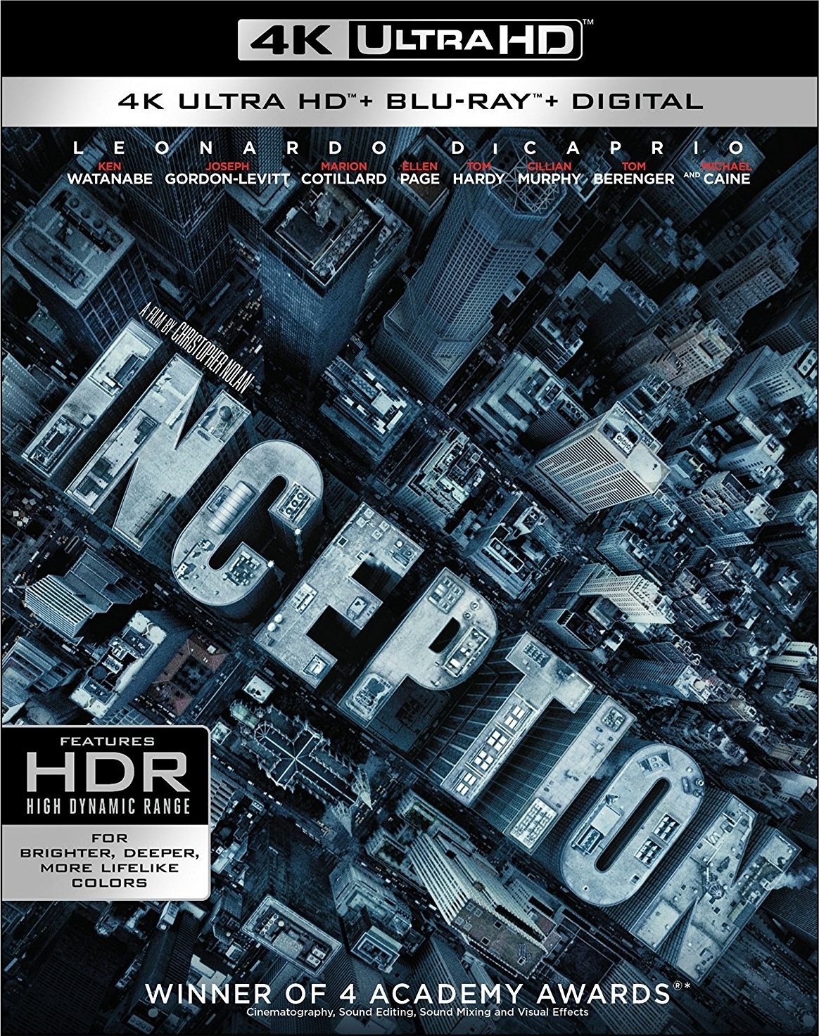 Inception 4K (2010) UHD Ultra HD Blu-ray
