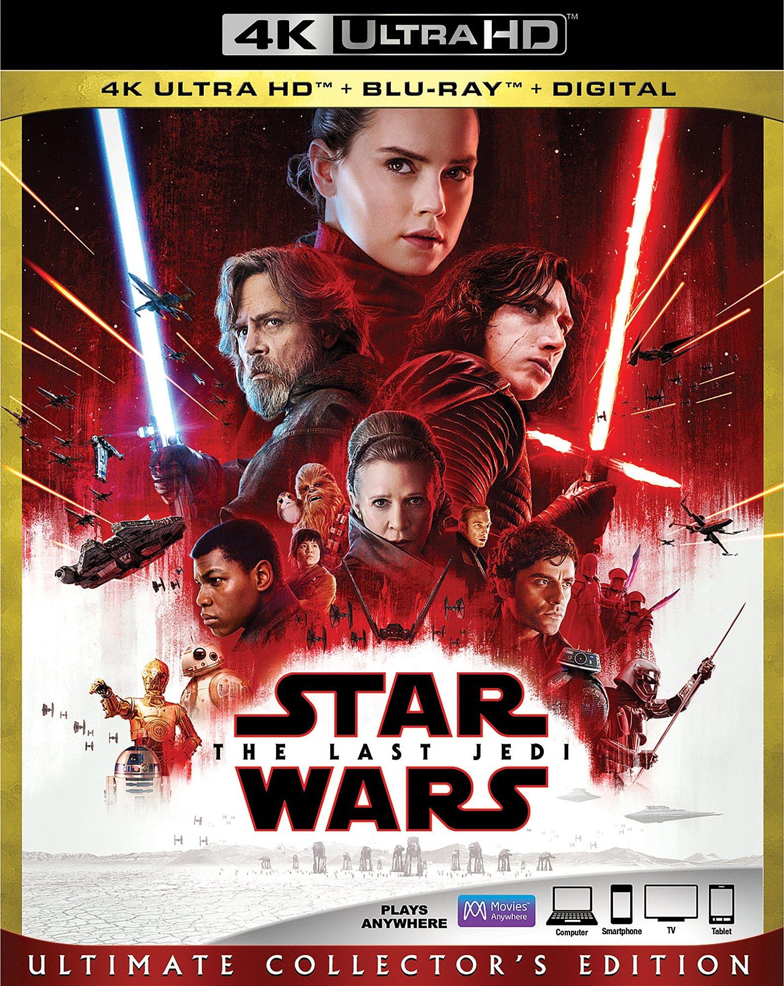 Star Wars: Episode VIII - The Last Jedi 4K (2017) Ultra HD Blu-ray