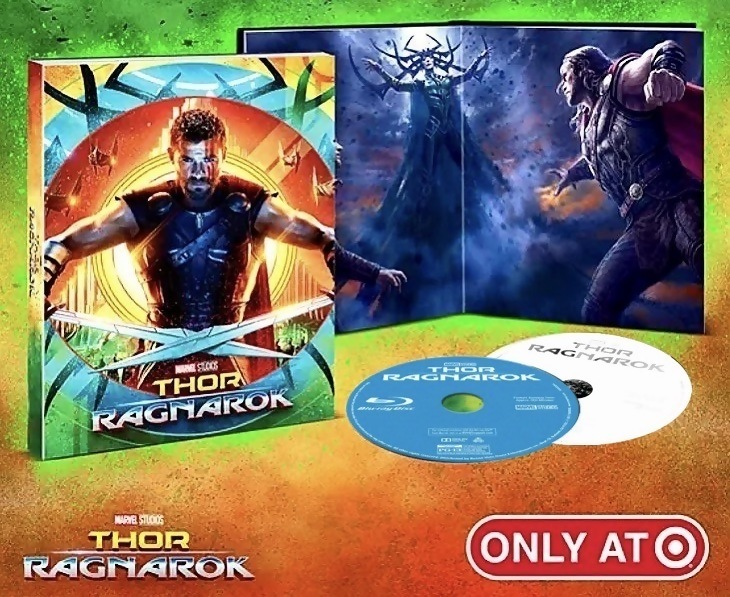 Thor Ragnarok Blu Ray Release Date March 6 2018 Target Exclusive Digipack