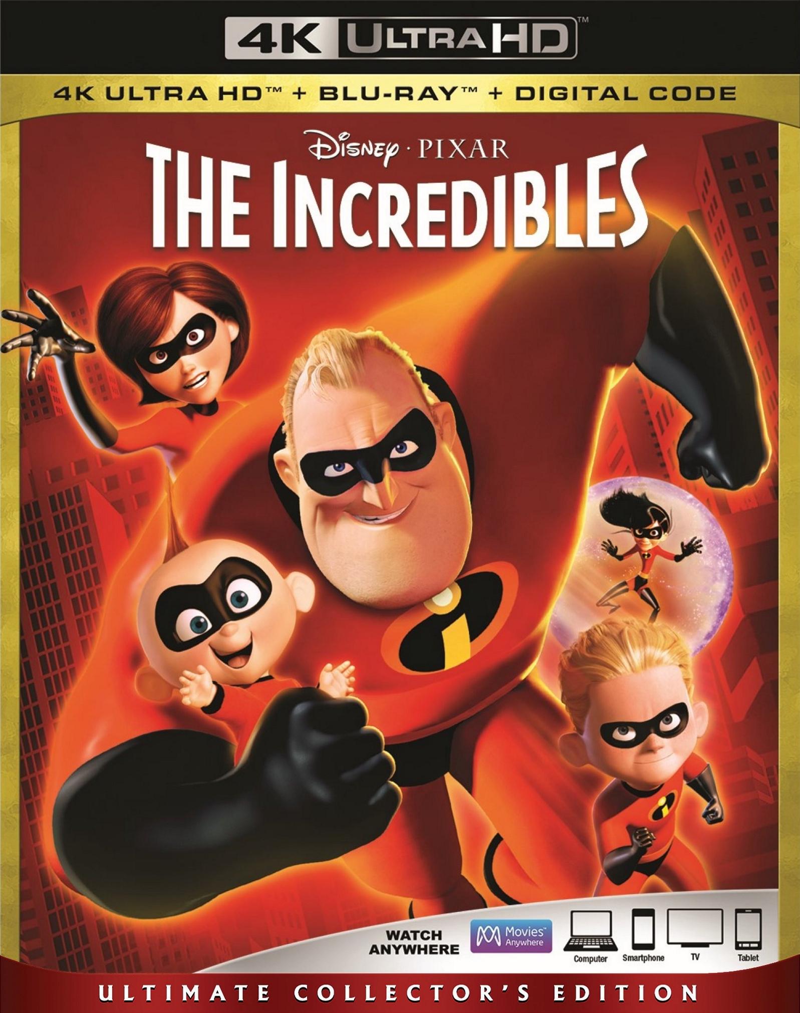 The Incredibles 4K (2004) Ultra HD Blu-ray