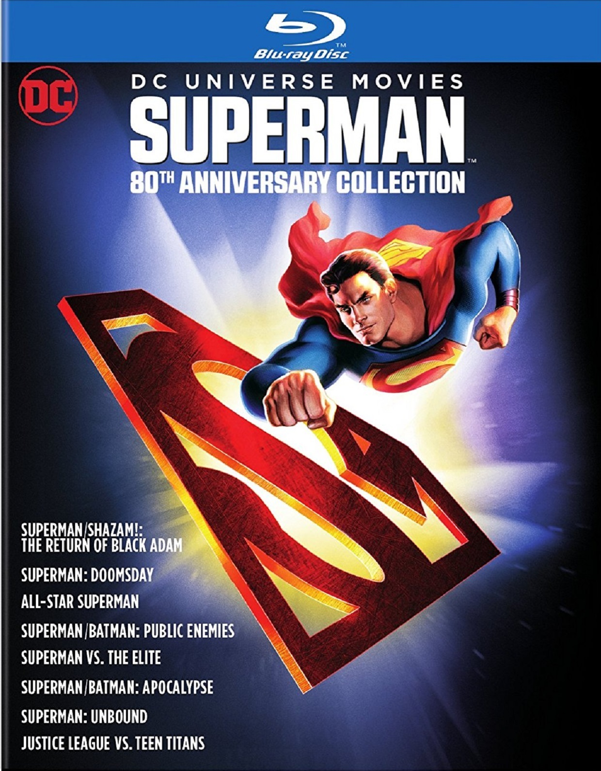 DC Universe Movies Superman 80th Anniversary Collection (2007-2016) Blu-ray