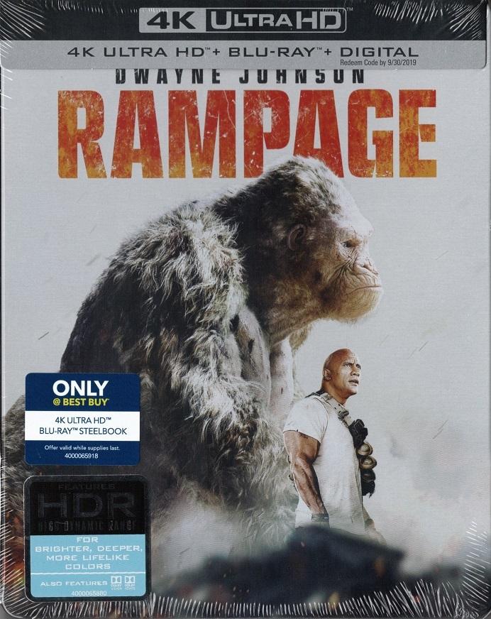 Rampage (SteelBook) 4K (2018) Ultra HD Blu-ray