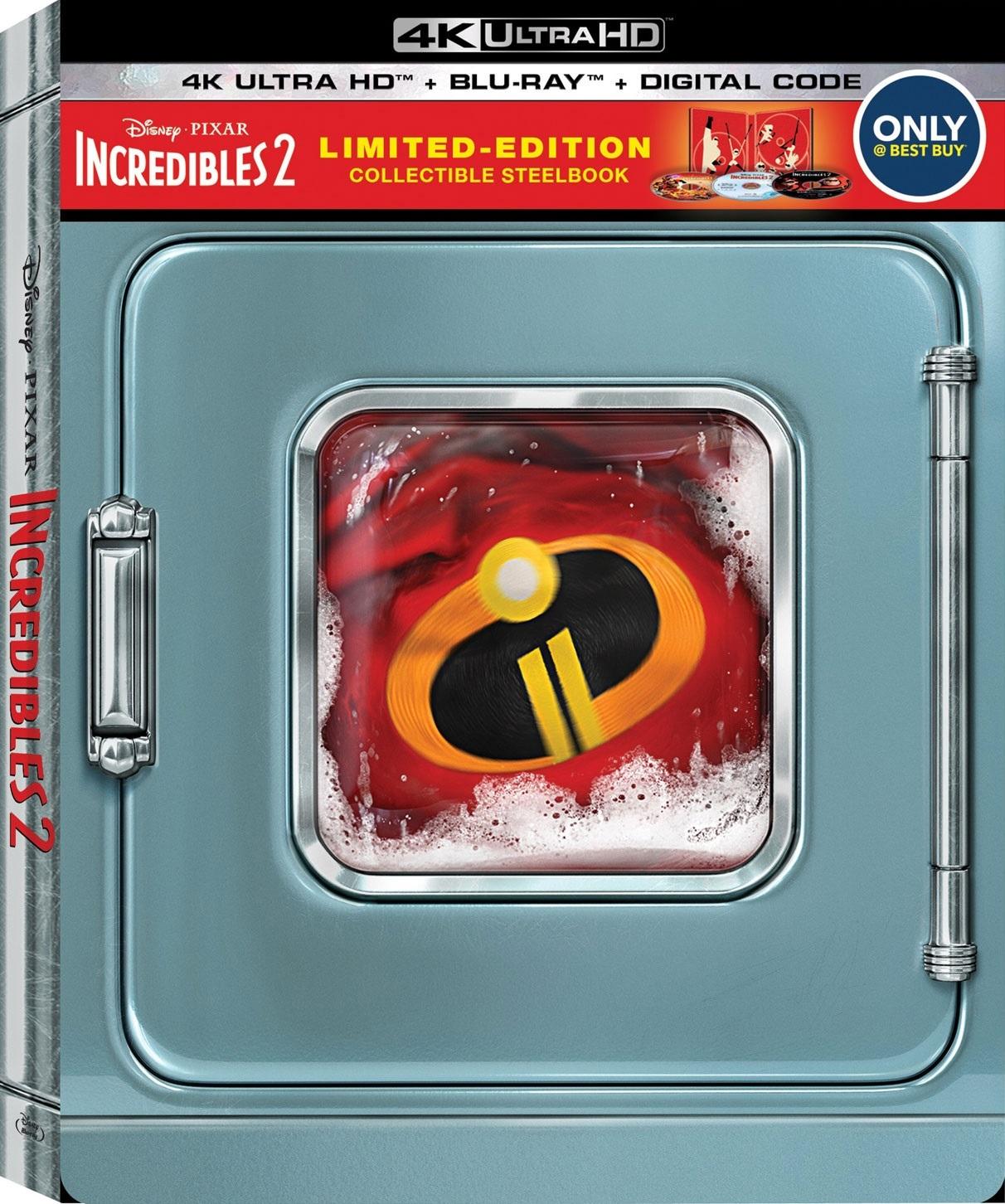 Incredibles 2 4K (2018)(Best Buy Steelbook) Ultra HD Blu-ray