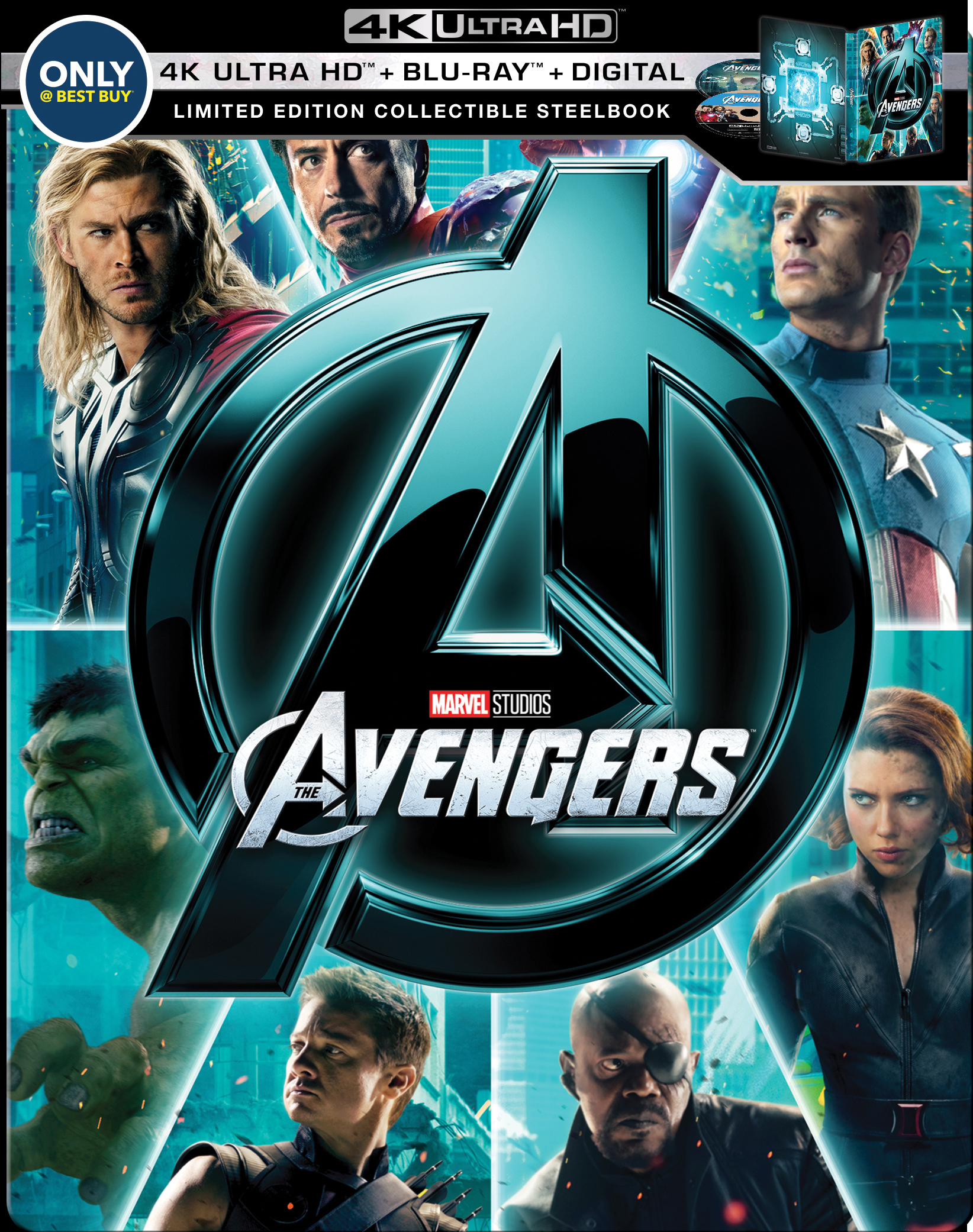 The Avengers 4K (SteelBook)(2012) Ultra HD Blu-ray
