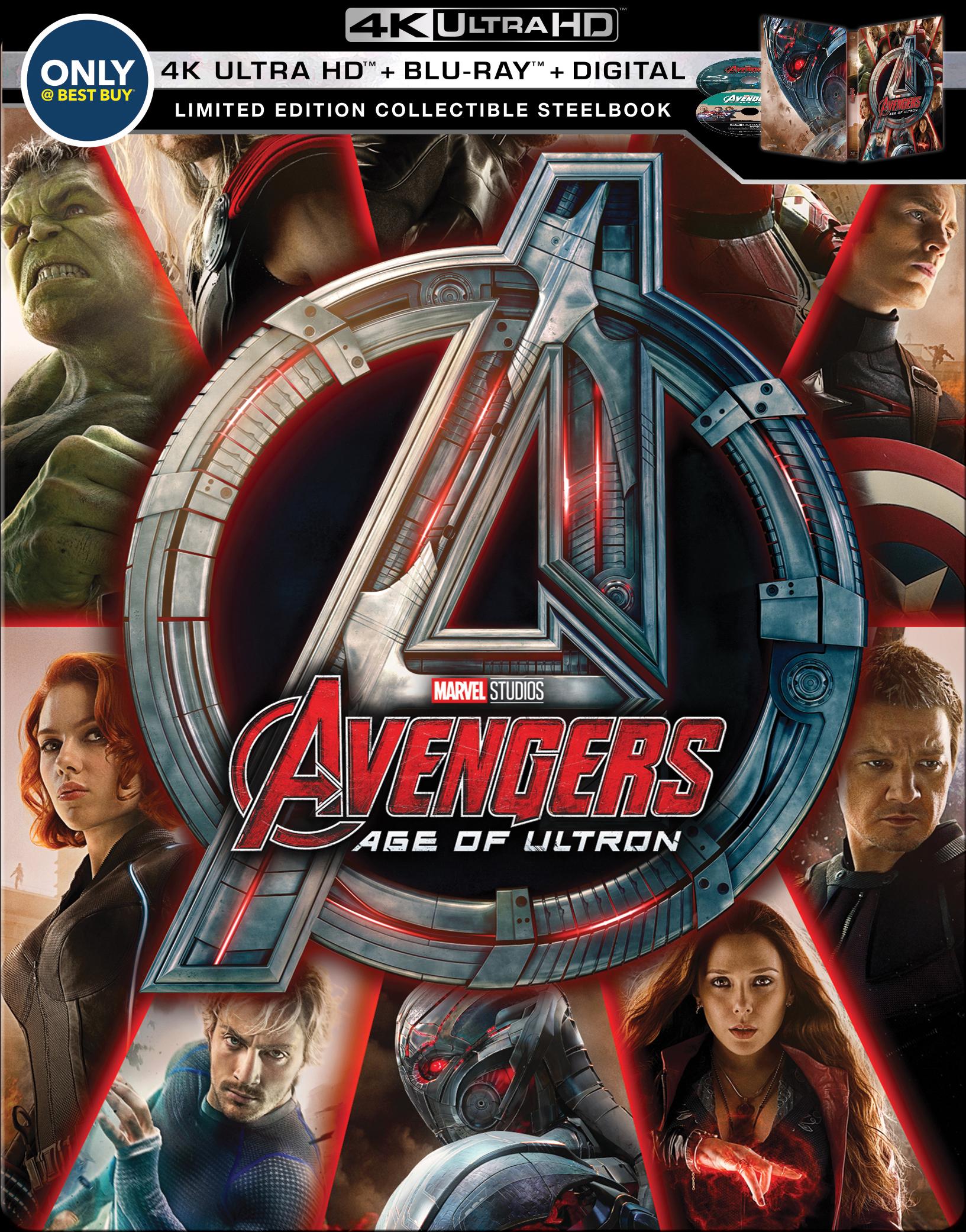 Avengers: Age of Ultron 4K (SteelBook)(2015) Ultra HD Blu-ray