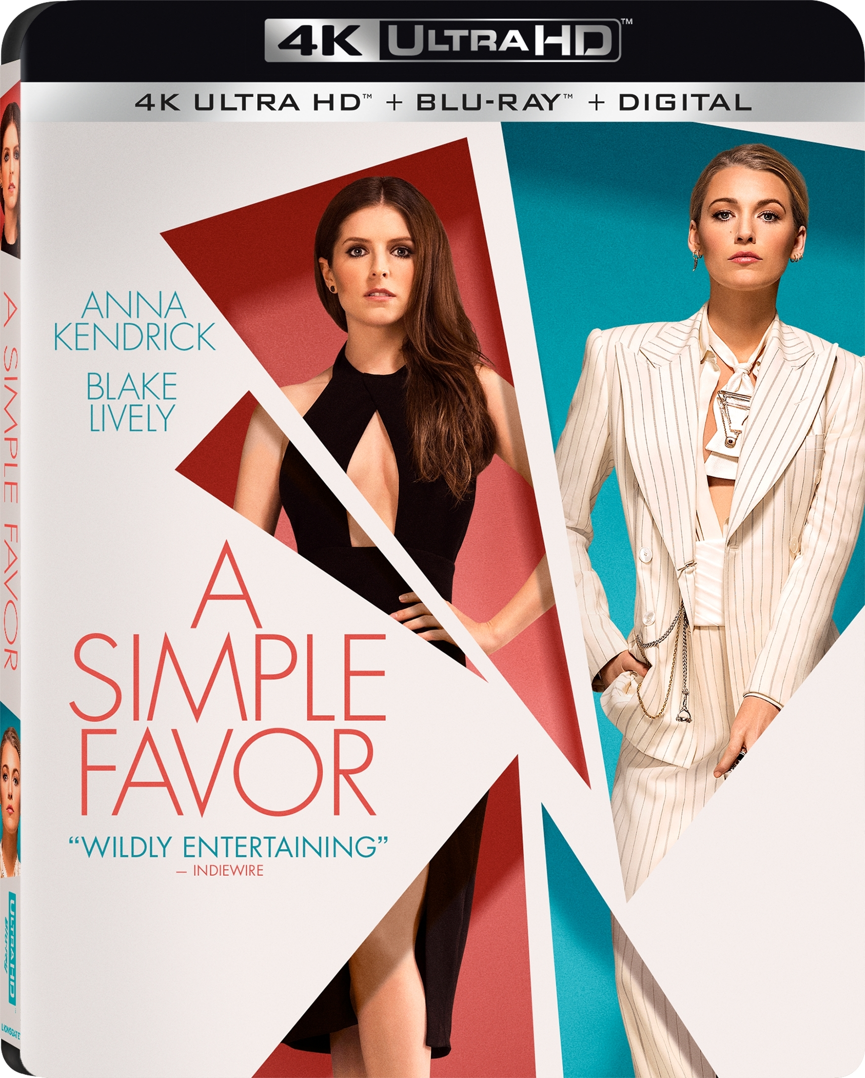A Simple Favor 4K (2018) Ultra HD Blu-ray