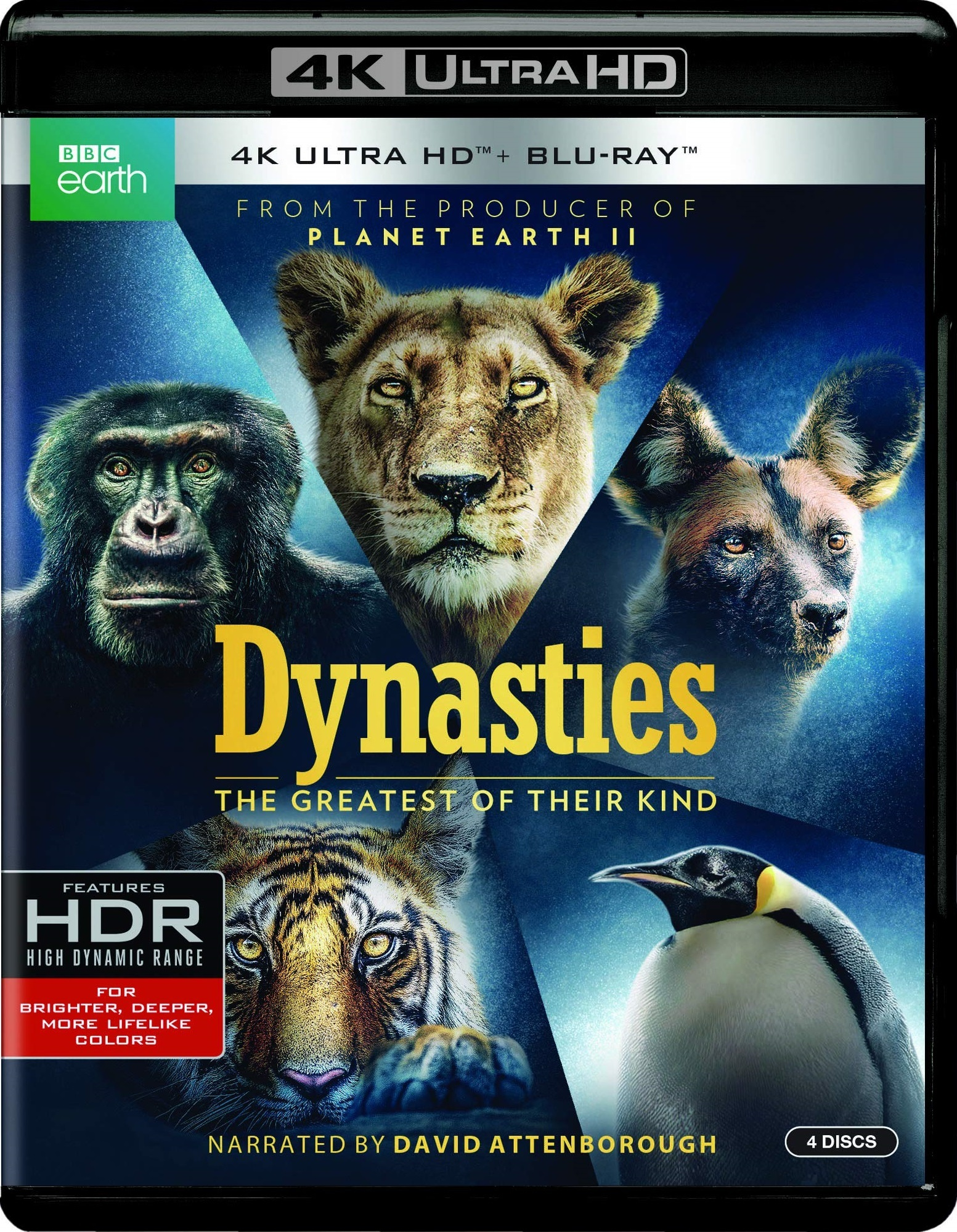 Dynasties (4K Ultra HD Blu-ray)(Pre-order / Feb 26)