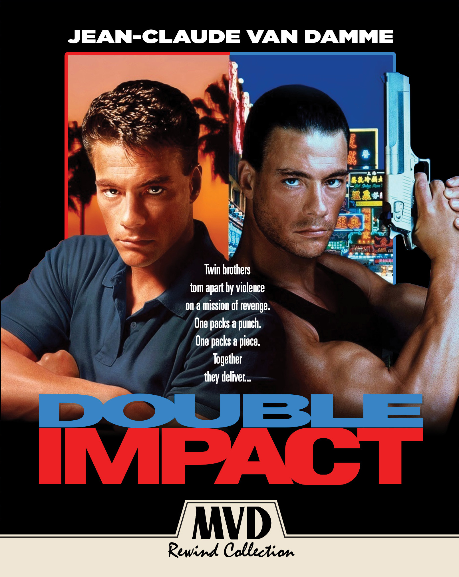 Double Impact (MVD Rewind Collection)(Blu-ray)(Region A)