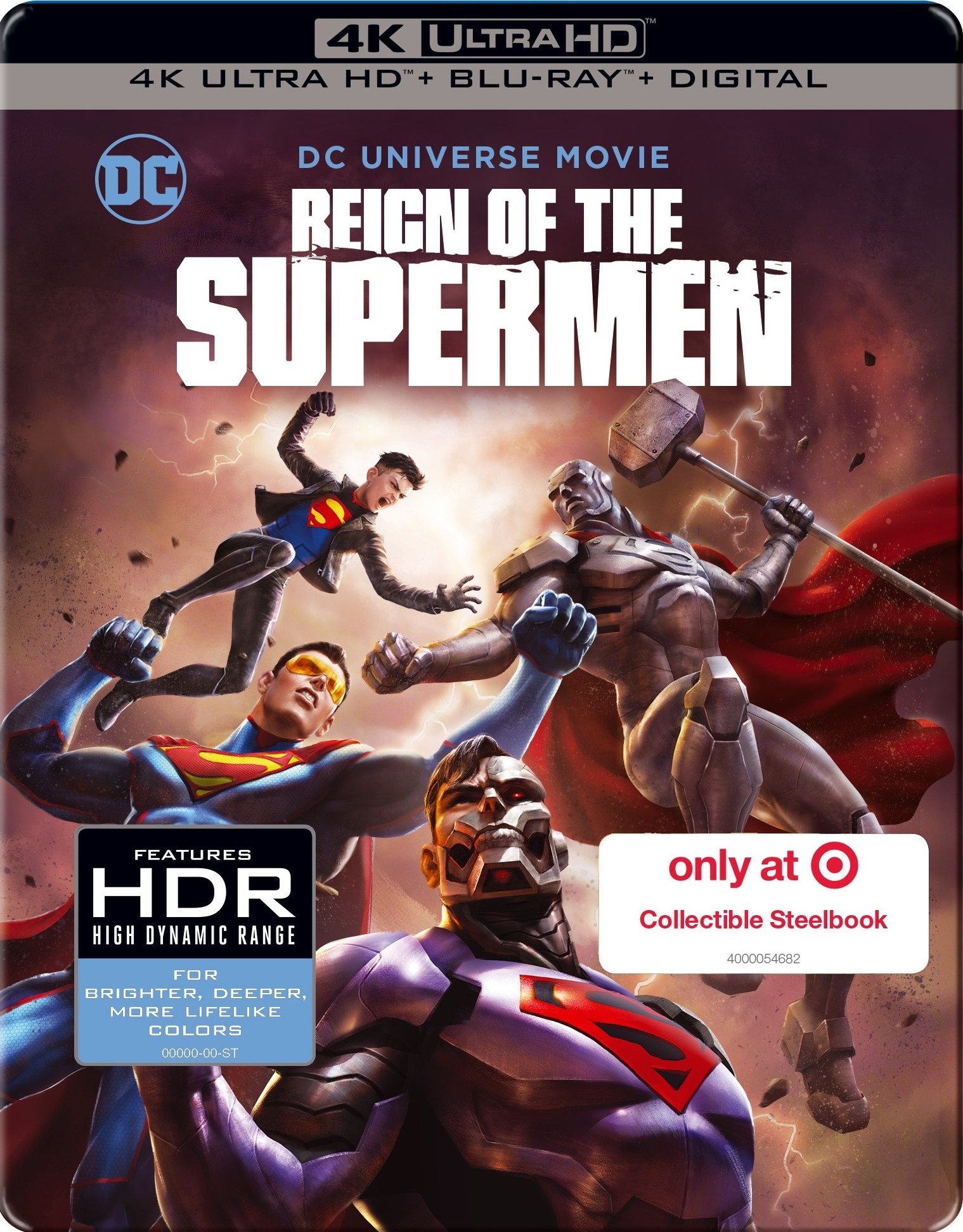 Reign of the Supermen (SteelBook)(4K Ultra HD Blu-ray)(Pre-order / Jan 29)