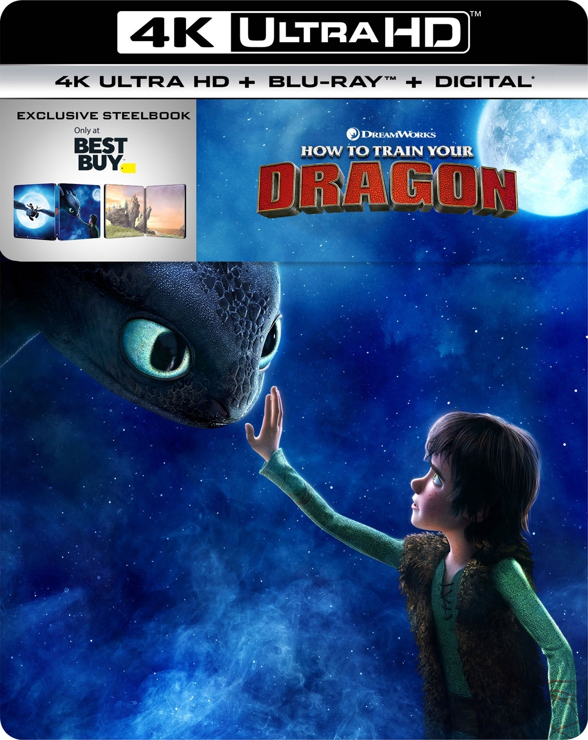 How to Train Your Dragon (SteelBook)(4K Ultra HD Blu-ray)(Pre-order / Feb 5)