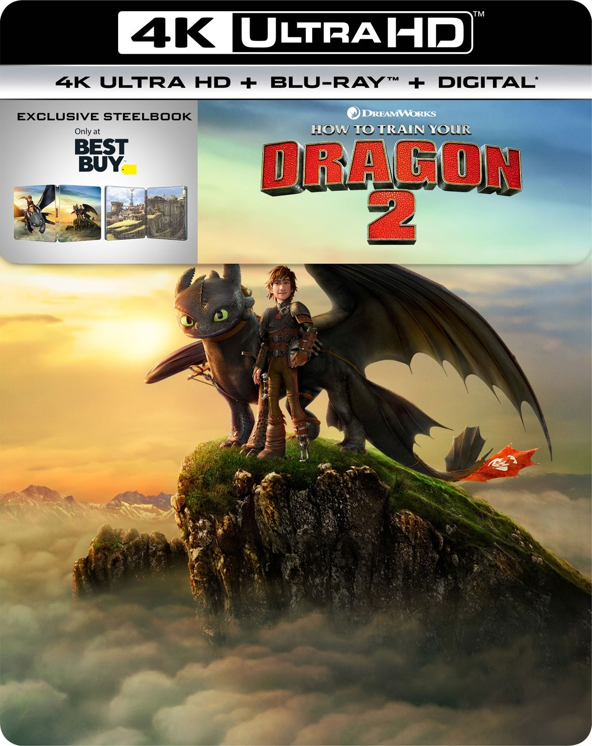 How to Train Your Dragon 2 (SteelBook)(4K Ultra HD Blu-ray)(Pre-order / Feb 5)