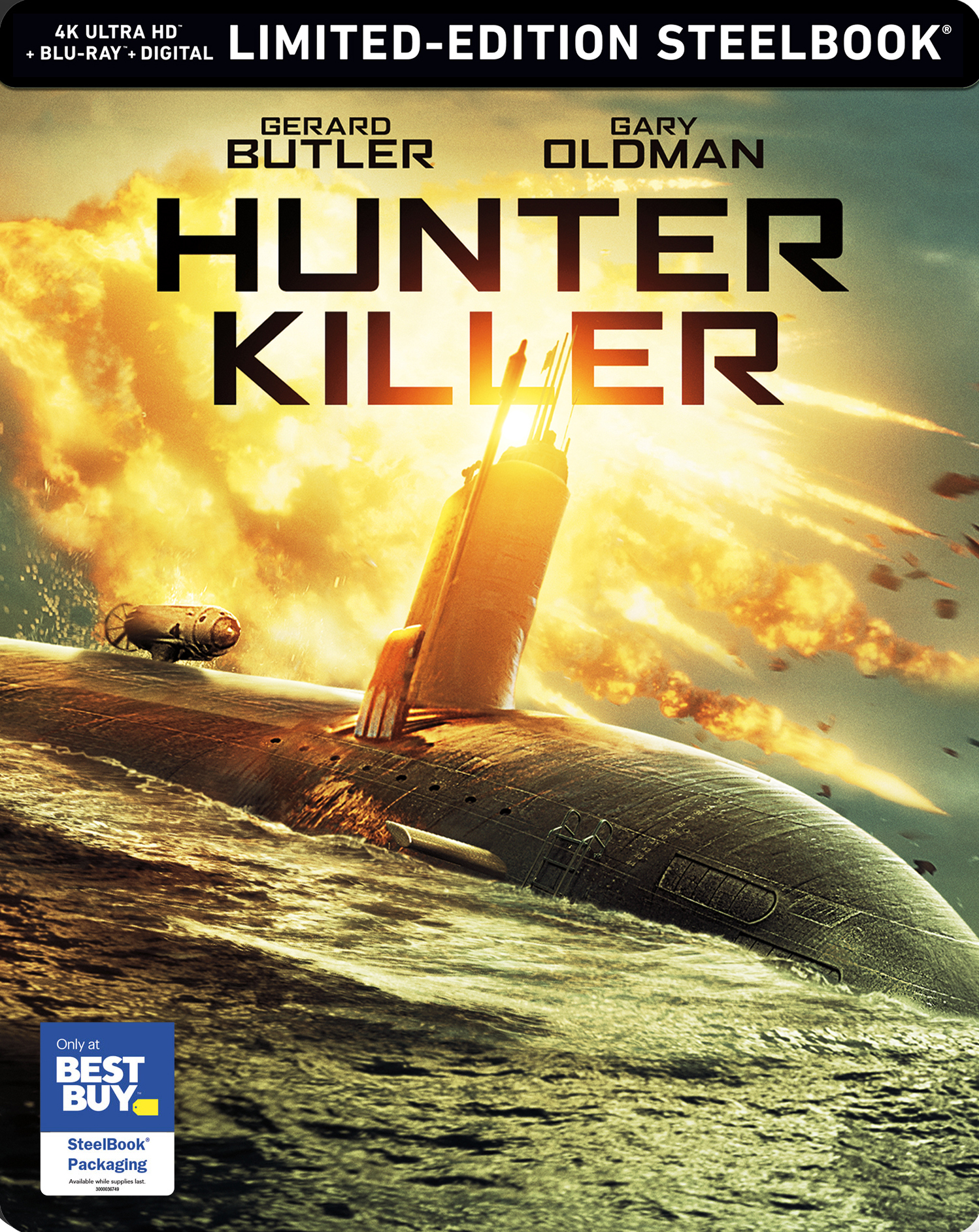 Hunter Killer (SteelBook)(4K Ultra HD Blu-ray)(Pre-order / Jan 29)