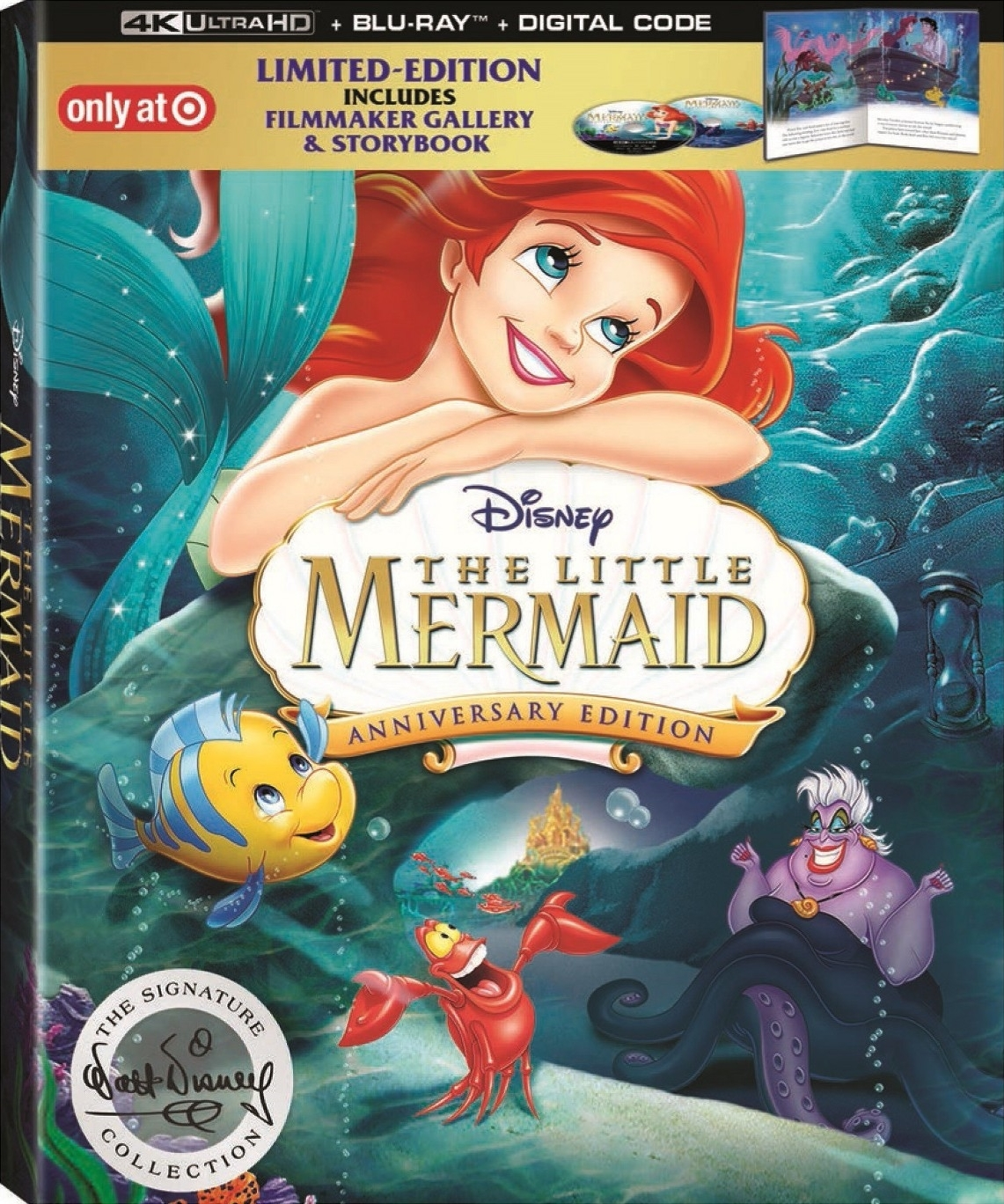 The Little Mermaid (DigiBook)(4K Ultra HD Blu-ray)(Pre-order / Feb 26)