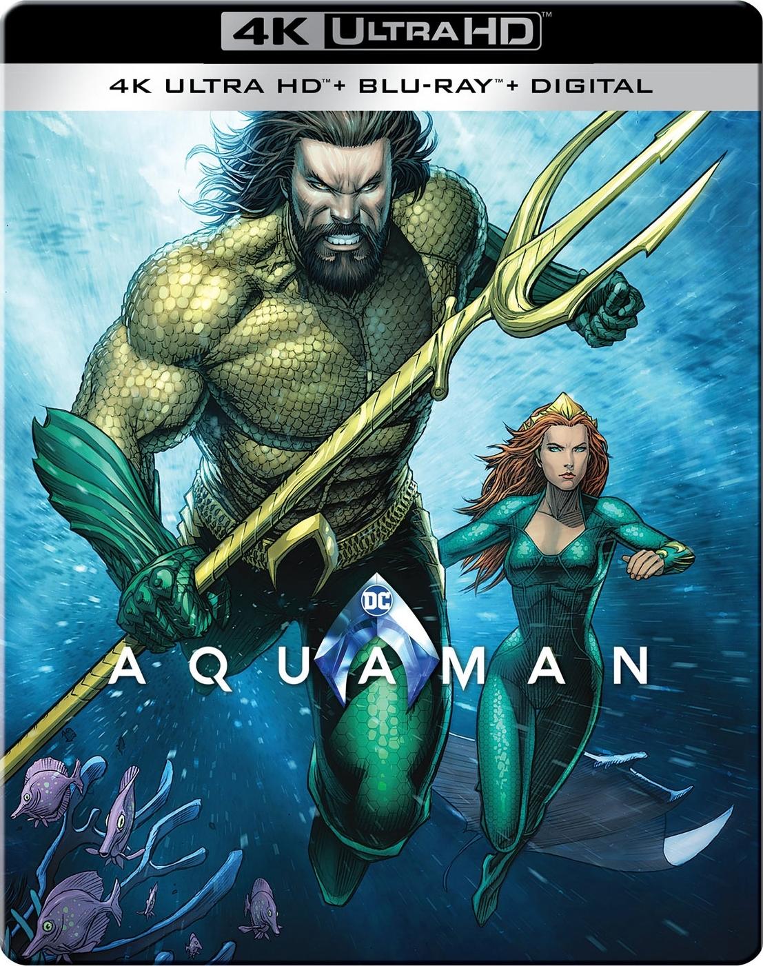 Aquaman (SteelBook)(4K Ultra HD Blu-ray)(Pre-order / Mar 26)