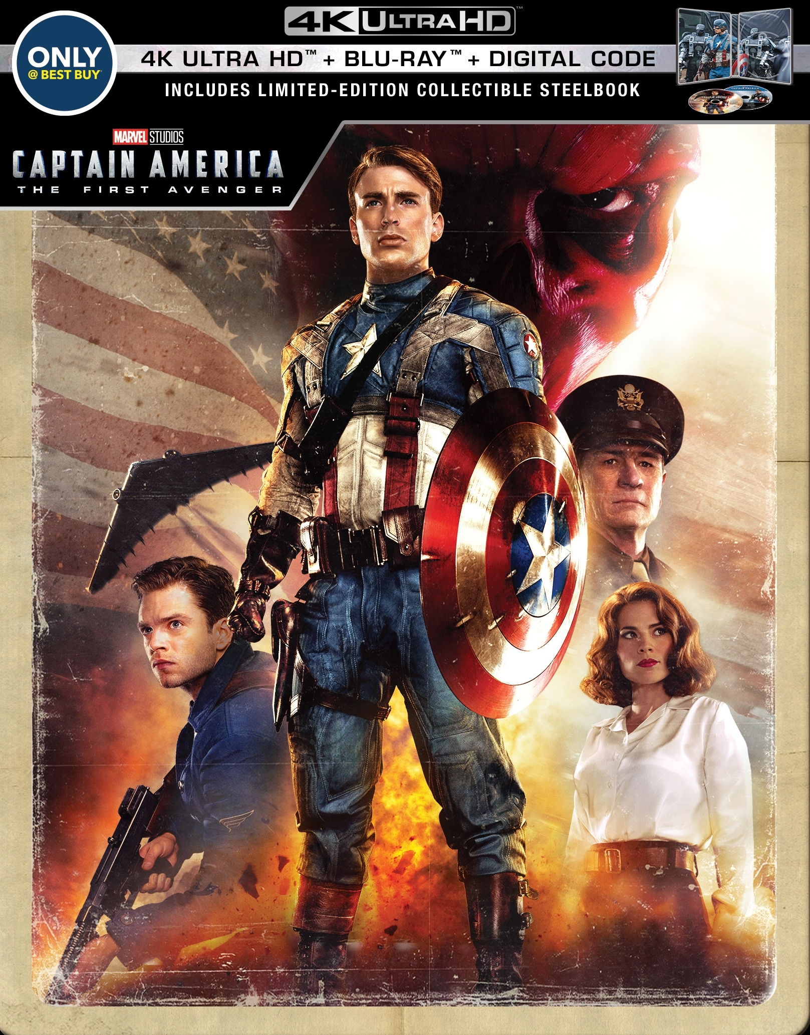 Captain America 1: The First Avenger (SteelBook)(4K Ultra HD Blu-ray)