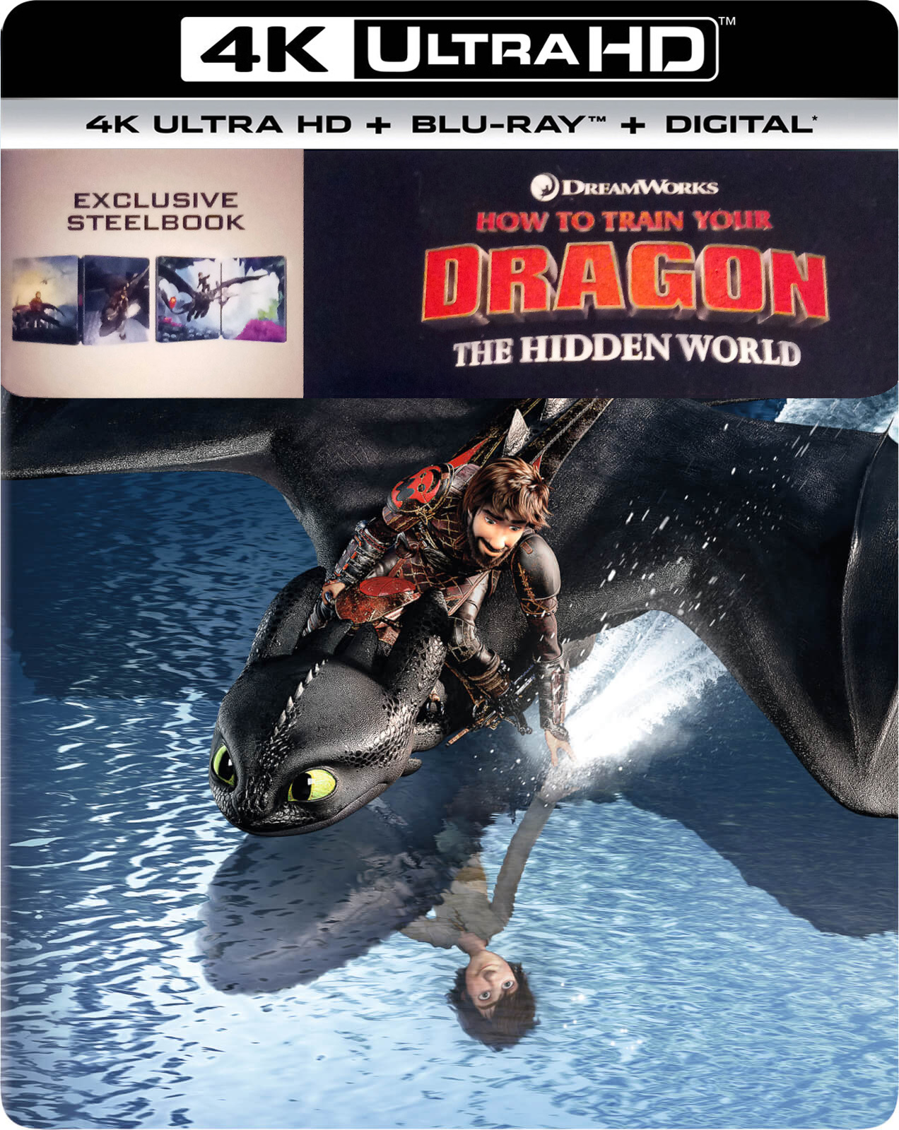 How to Train Your Dragon 3: The Hidden World (SteelBook)(4K Ultra HD Blu-ray)(Pre-order / May 21)