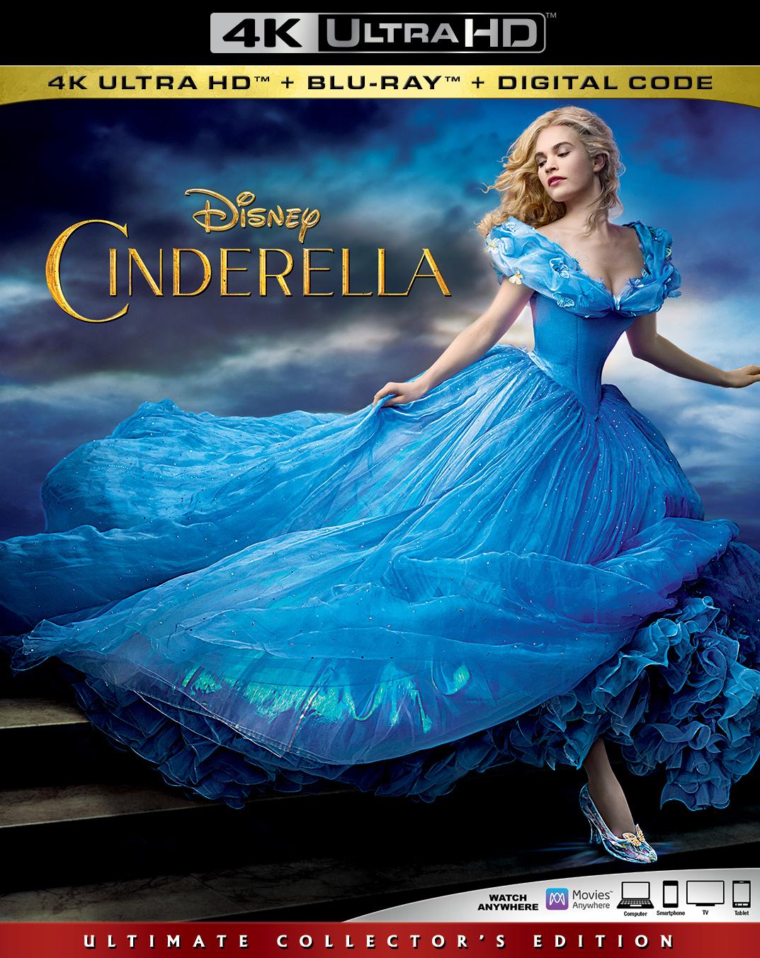 Cinderella (Live Action)(4K Ultra HD Blu-ray)(Pre-order / TBA)