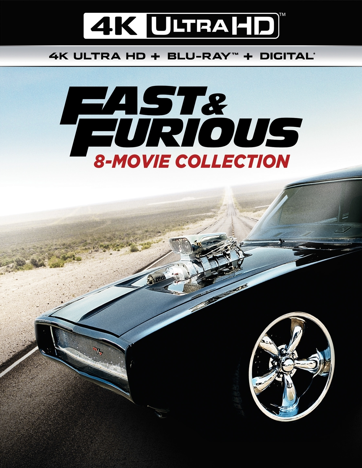 Fast & Furious 8-Movie Collection (4K Ultra HD Blu-ray)(Pre-order / Jun 11)