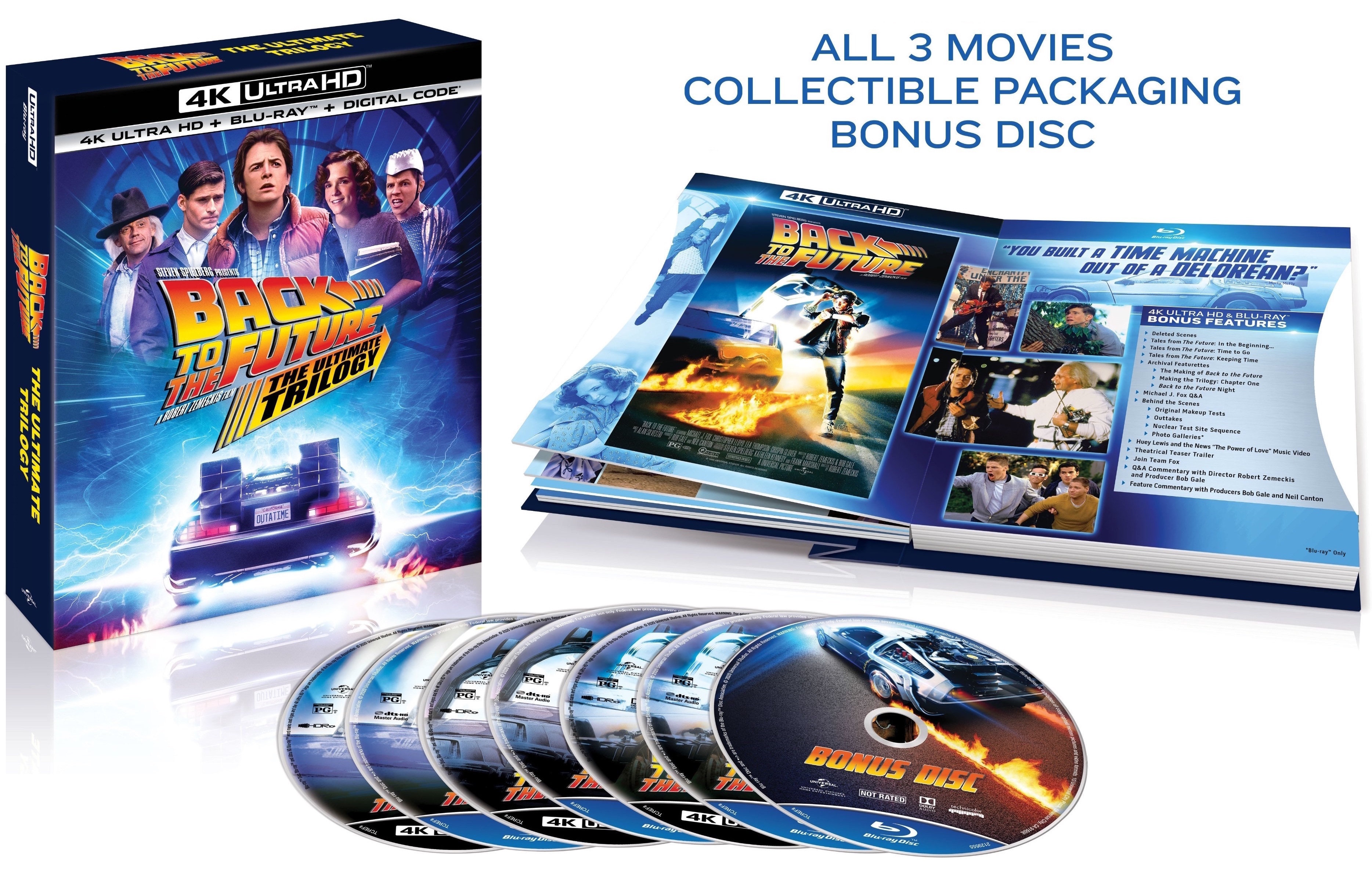 Back To The Future The Ultimate Trilogy 4k Blu Ray Release Date October 20 2020 Digibook