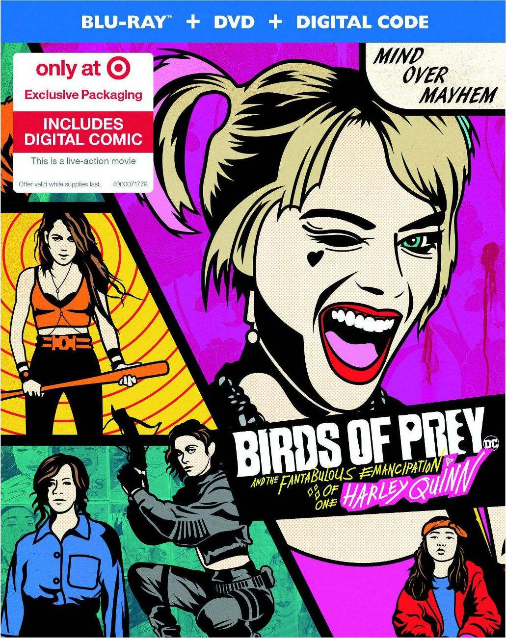 Birds Of Prey And The Fantabulous Emancipation Of One Harley Quinn Blu Ray Release Date May 12 2020 Target Exclusive