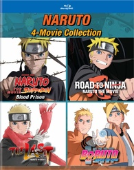Naruto The Movie 4 Movie Collection Blu Ray Release Date August 4 2020 Shippuden Blood Prison Road To Ninja The Last Boruto