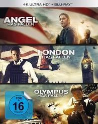 Olympus Has Fallen + London Has Fallen + Angel Has Fallen 4 K (Blu-ray) Temporary cover art
