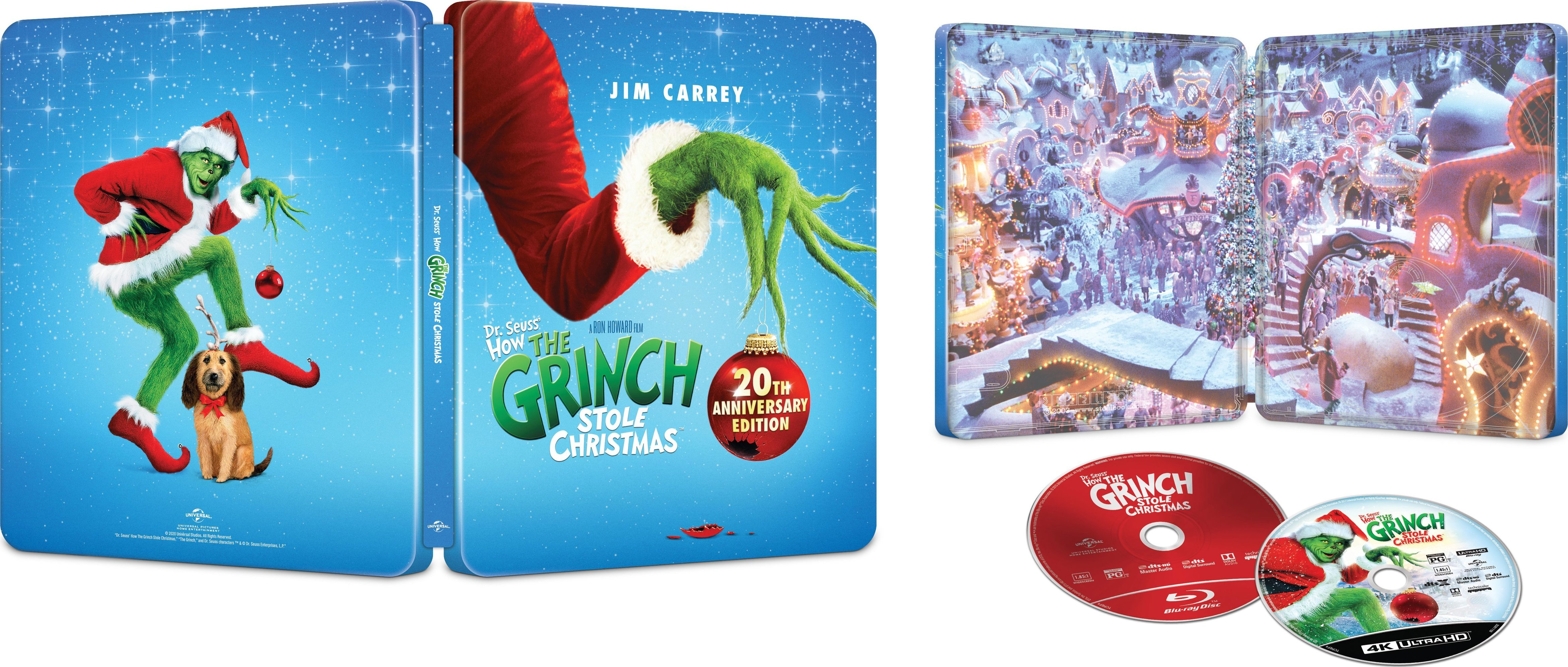 How The Grinch Stole Christmas 2021 Dvd Cover Dr Seuss How The Grinch Stole Christmas 4k Blu Ray Release Date November 1 2020 Best Buy Exclusive Steelbook