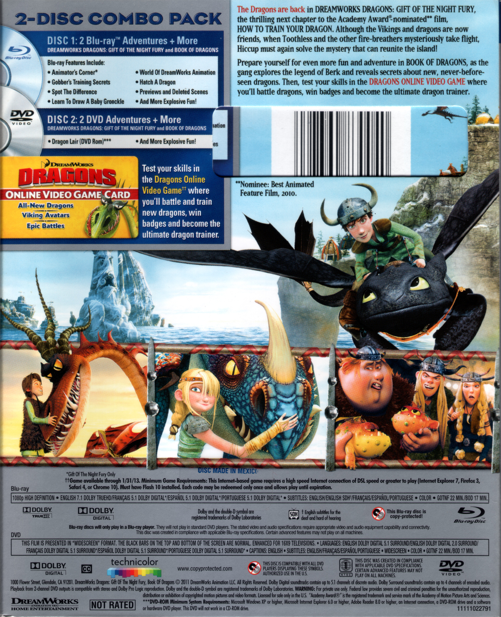 Dreamworks dragons blu ray gift of the night fury book of dragons ccuart Images