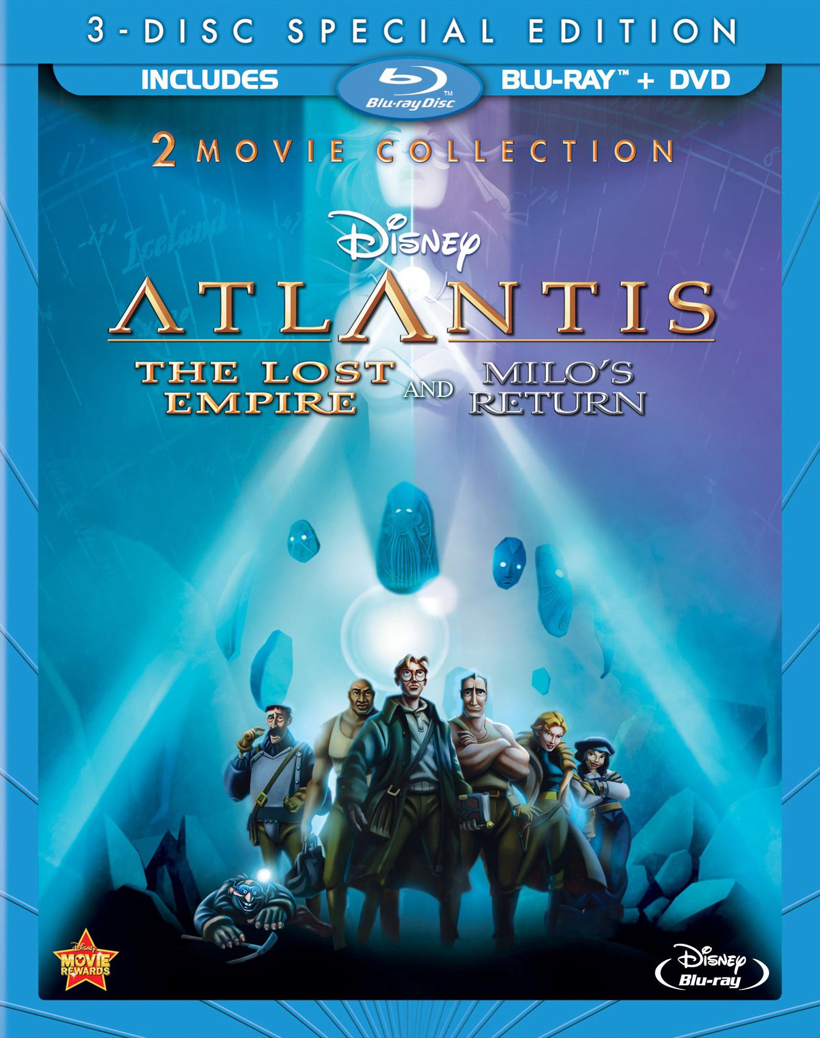 Atlantis The Lost Empire Atlantis Milos Return Blu Ray