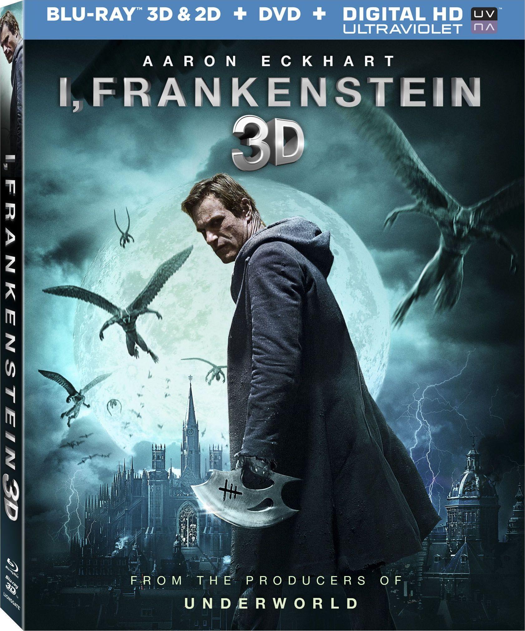 i, frankenstein 3d blu-ray